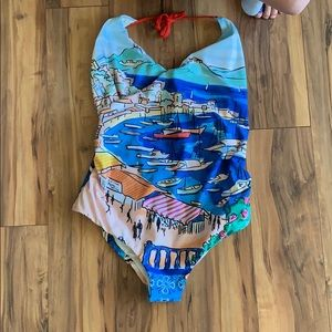 Anthropologie Estivo large one piece suit $155